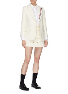 Thom Browne Button front frayed mini skirt