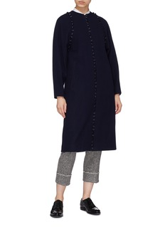 Thom Browne Detachable sleeve wool coat