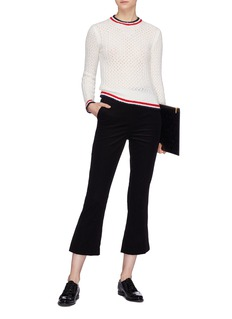 Thom Browne Stripe border open knit sweater