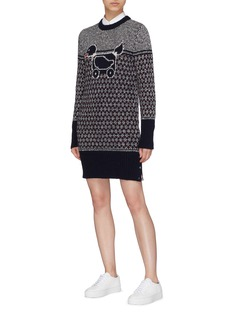 Thom Browne Duck intarsia wool mohair sweater dress