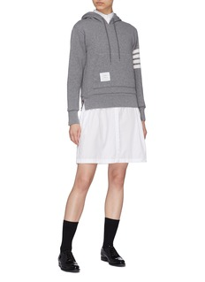 Thom Browne Stripe sleeve cashmere-cotton hoodie