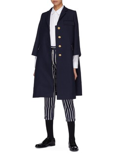Thom Browne Wool-silk crepe swing coat