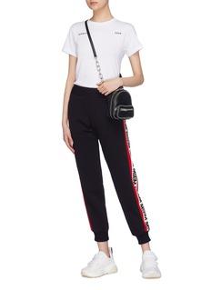 MSGM Logo stripe outseam jogging pants
