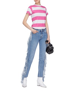 MSGM Fringe outseam jeans