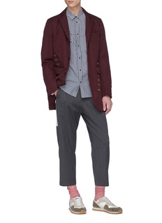 Johnundercover Zip edge gingham check shirt