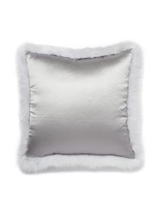 Frette Fox fur cushion cover –Light Grey