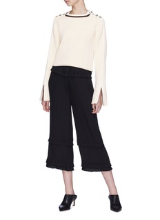 3.1 Phillip Lim Button shoulder stripe sweater