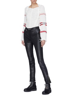 3.1 Phillip Lim Zip cuff leather leggings