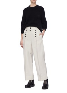 3.1 Phillip Lim Button front pintucked wool pants