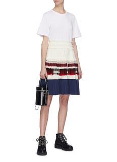 3.1 Phillip Lim Colourblock pleated tiered T-shirt dress