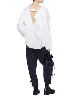 3.1 Phillip Lim Tie back blouson sleeve poplin blouse