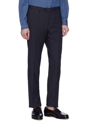 Detail View - Click To Enlarge - LARDINI - 'Easy Wear' packable houndstooth suit