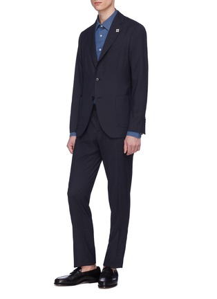 Front View - Click To Enlarge - LARDINI - 'Easy Wear' packable houndstooth suit