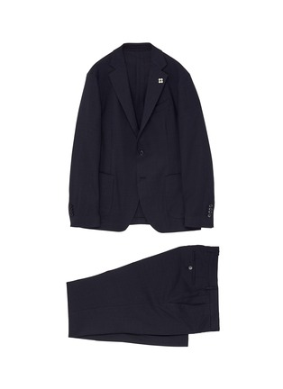 Main View - Click To Enlarge - LARDINI - 'Easy Wear' packable houndstooth suit