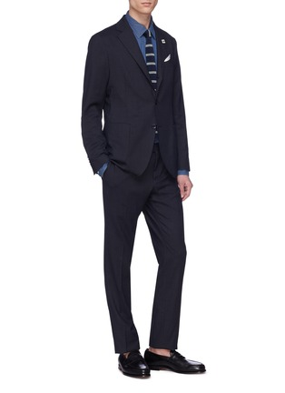 Figure View - Click To Enlarge - LARDINI - 'Easy Wear' packable houndstooth suit