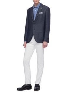 Lardini Wool blend herringbone soft blazer