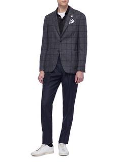 Lardini Slim fit pleated wool pants