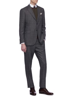 Lardini Check wool suit
