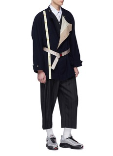 Digawel Belted stand collar wool-blend jacket