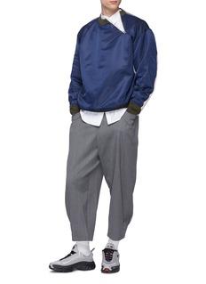Digawel Pintucked wool gabardine cropped wide leg pants
