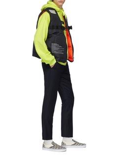 doublet 'Instructions' print reversible down puffer vest