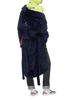 doublet Belted velvet wrap coat
