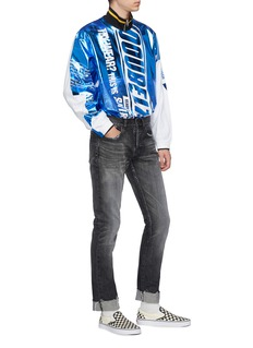 doublet Laminated metallic panel long sleeve T-shirt