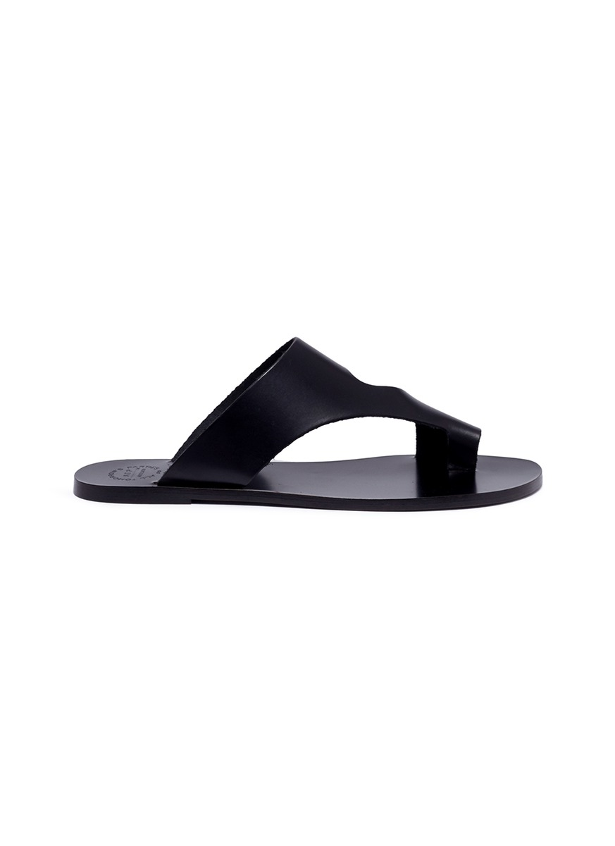 Roma leather slide sandals by ATP Atelier