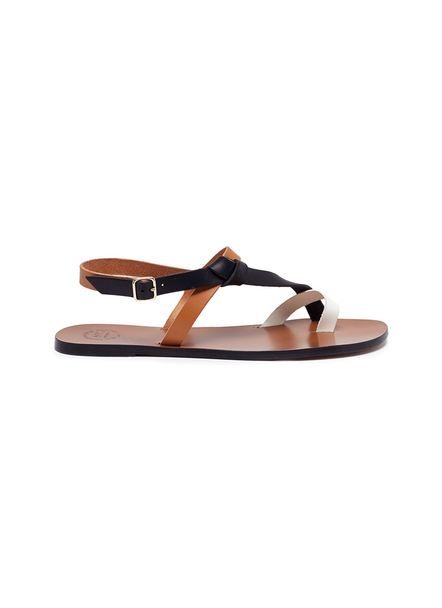 Arona colourblock leather sandals by ATP Atelier