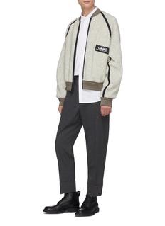 OAMC 'Coyote' reversible faux shearling raglan bomber jacket