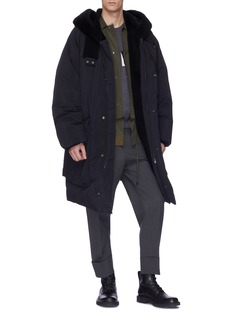 OAMC 'Sherman' lamb fur lined hood oversized down parka