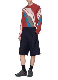 Kiko Kostadinov Abstract graphic intarsia bouclé sweater