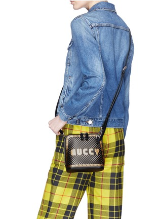 546f9b299a2 Figure View - Click To Enlarge - Gucci -  Guccy  logo print mini leather