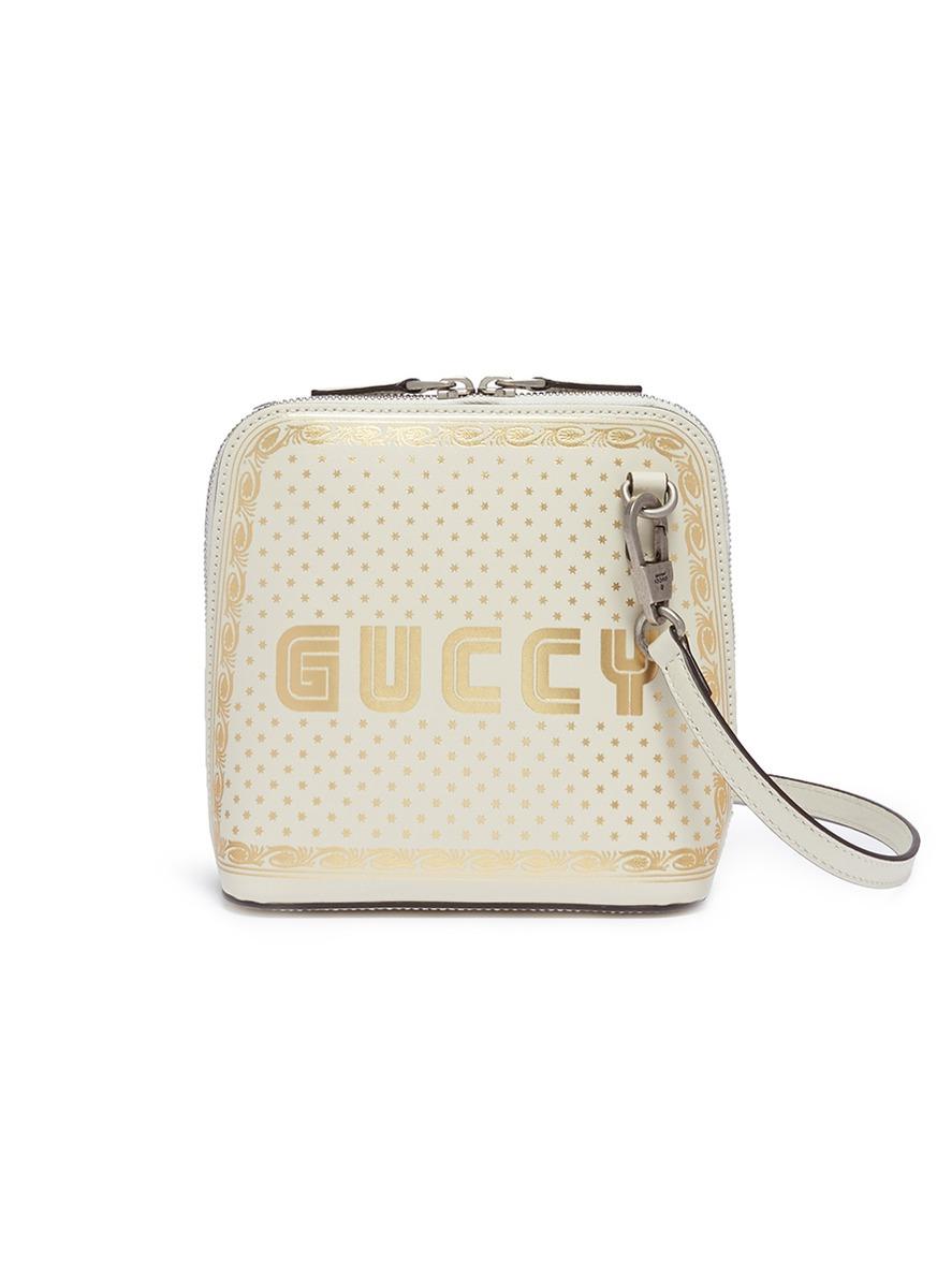 24f3bddf4c0 Gucci.  Guccy  logo print mini leather crossbody bag