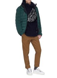 Napa 'T-Jannu' logo patch fleece hoodie
