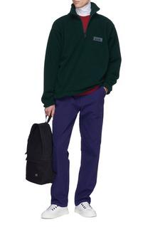 Napa 'T-Nevis' logo patch fleece half-zip sweatshirt