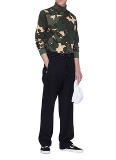 032c 'WWB' logo embroidered camouflage print turtleneck sweatshirt