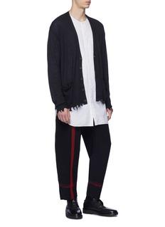 Uma Wang  'Pigiama' stripe virgin wool-linen jogging pants