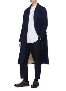 Uma Wang  'Riccardo' stripe brushed coat