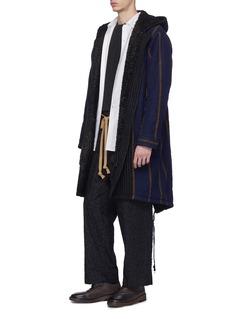 Uma Wang  'Patrizio' belted cotton-wool twill cargo pants