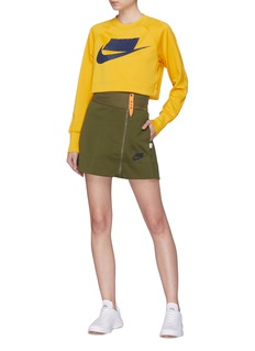 Nike Zip front wide waistband mini skirt