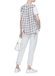 Opening Ceremony Check plaid panel drape T-shirt