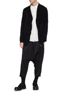 The Viridi-anne Panelled zip cardigan