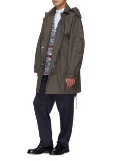 E. Tautz Colourblock stripe panel wool-cashmere cardigan