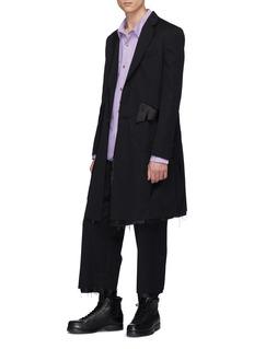 Sulvam Raw edge wool twill coat