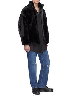 Sulvam Padded faux fur jacket