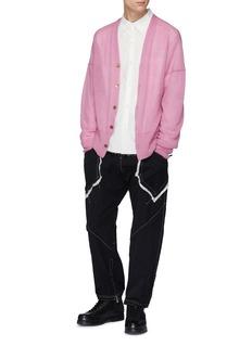 Sulvam Contrast topstitching raw pocket track pants