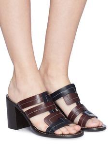Trademark Interlock leather mules