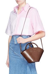 Trademark Detachable scarf small leather crossbody basket bag