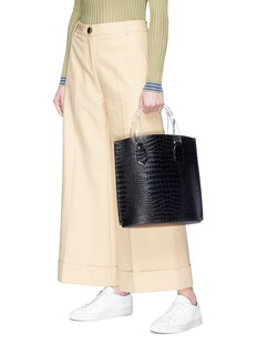 Trademark 'Aubock' mini croc embossed leather tote